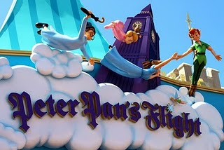disneyland vs. disney world: peter pan's flight