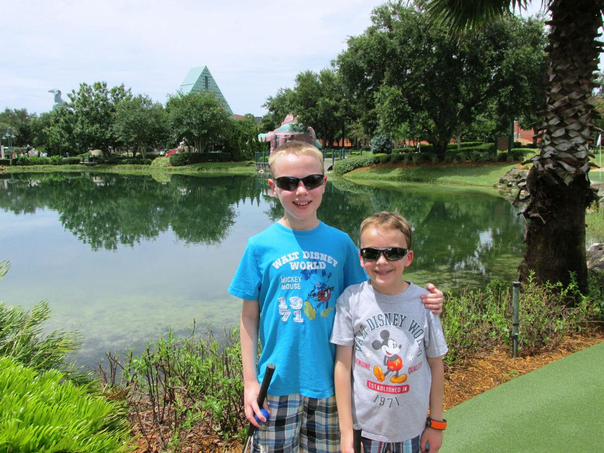 Disney World Mini Golf Fantasia Gardens