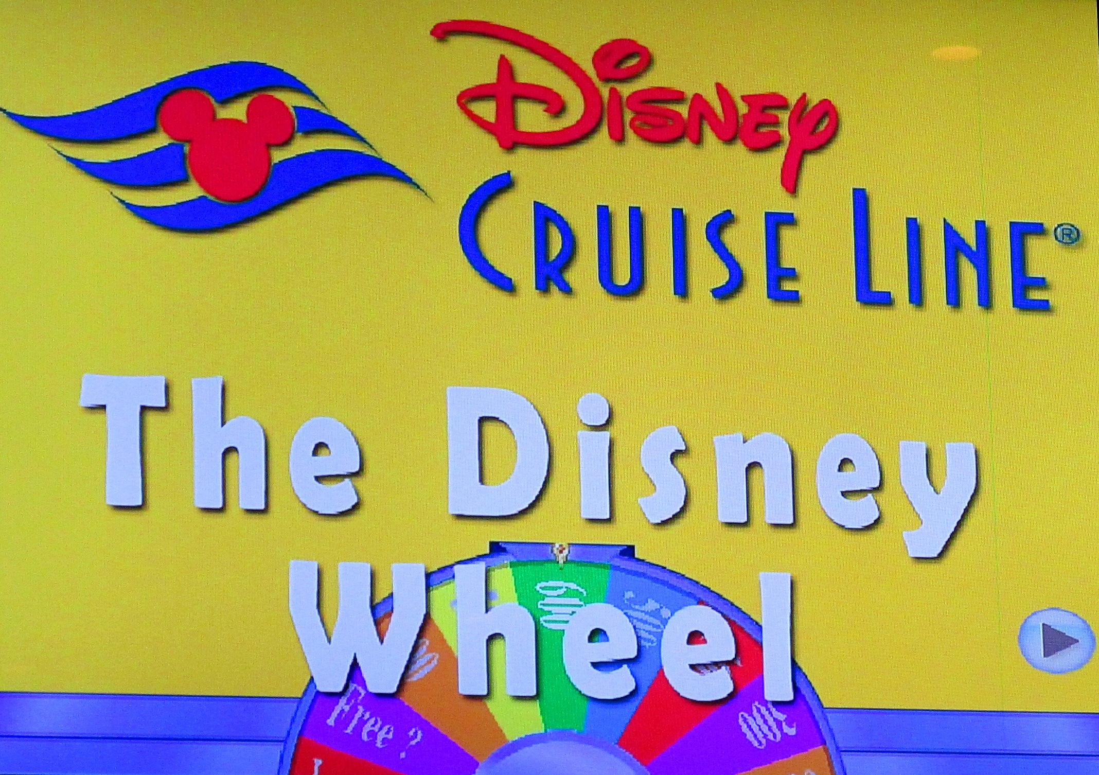 Wheel on Disney Wonder