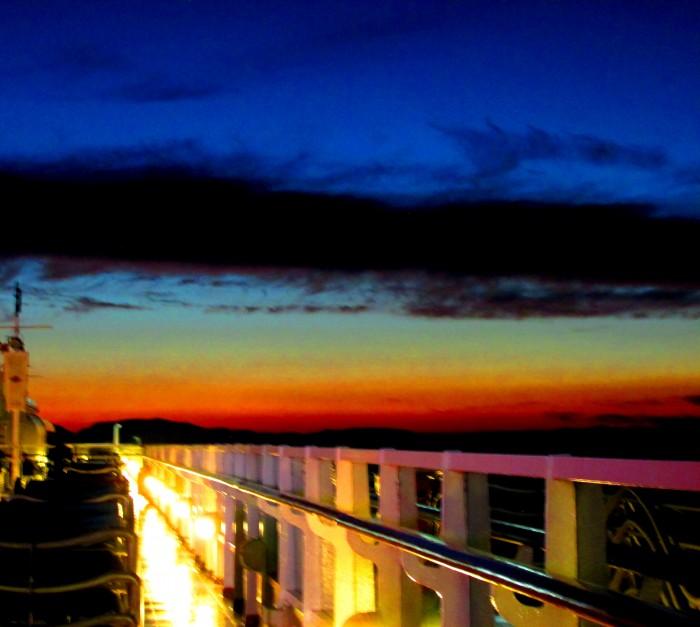 Sunset on Disney Wonder