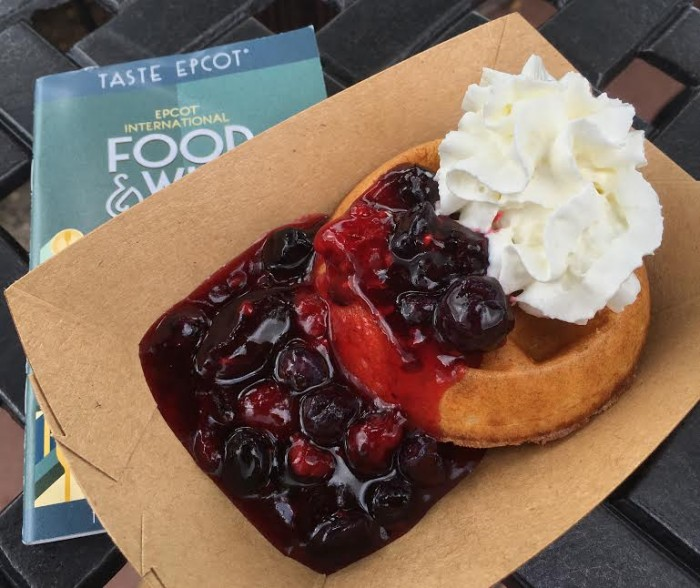 Belgium's Belgian Waffle with Berry Compote and Whipped Cream