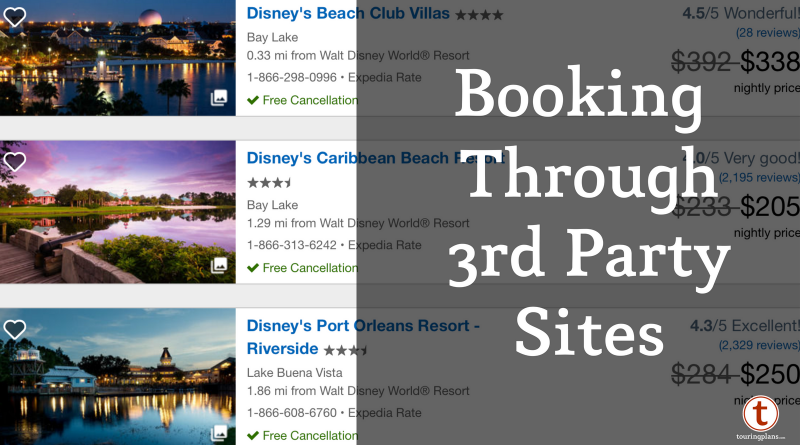 Booking Walt Disney World Resorts Through Third-Party Websites