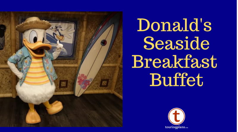 Donald Duck's Seaside Breakfast Buffet at PCH Grill