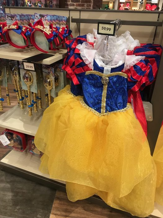New Disney Store SNOW WHITE Costume Crown /& Wand Set