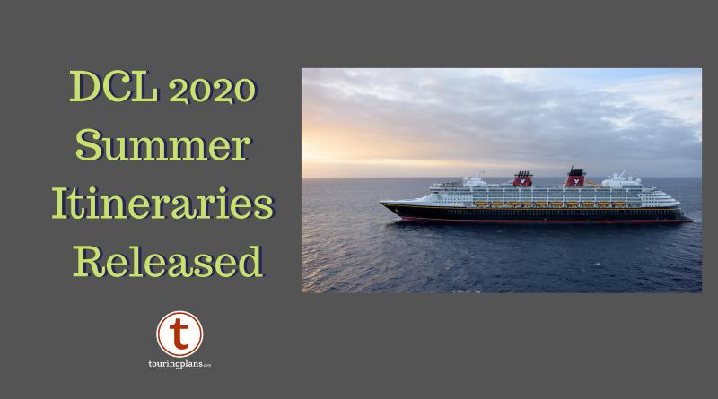 Disney Cruise 2020.Disney Cruise Line Announces Summer 2020 Itineraries