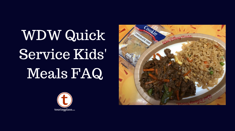 Disney World Quick Service Kids Meals Faq Touringplans