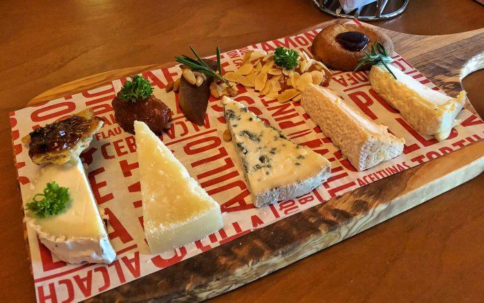 A sampling of cheeses