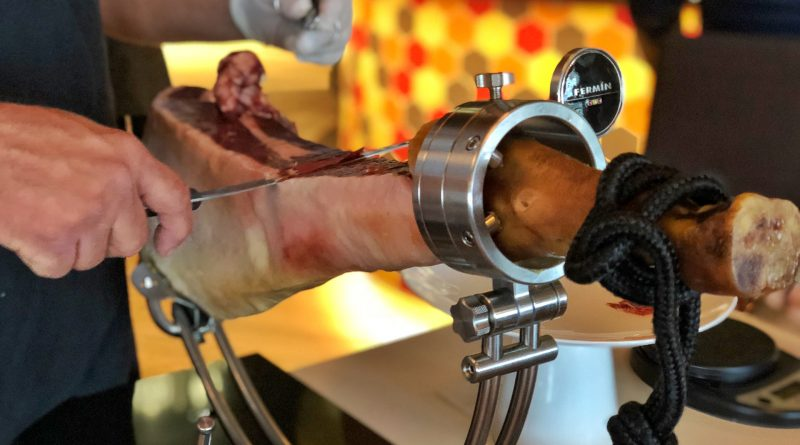 Iberico ham hand-carved tableside