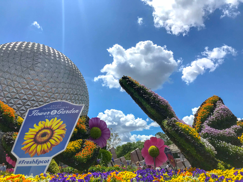 saturday six - 6 reasons we love epcot's 2019 flower & garden