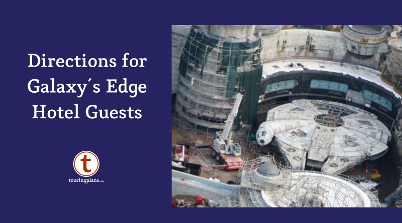 Disneyland Hotel Instructions for Galaxy's Edge