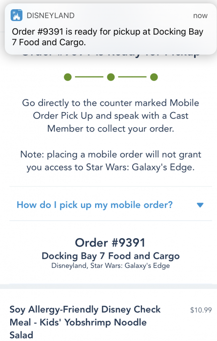 Mobile Ordering at Docking Bay 7 in Galaxy's Edge