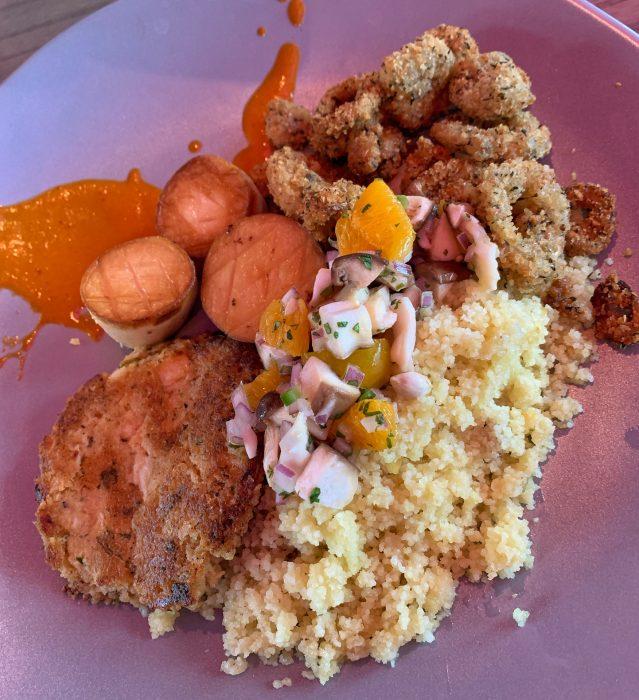 "Vegan ""seafood"" platter"