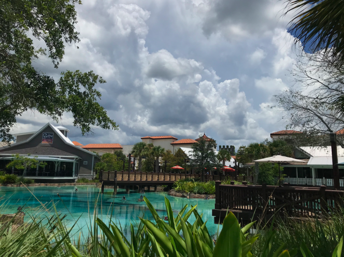 Clouds thicken east of Disney Springs on Saturday, July 20, 2019