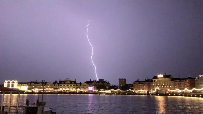 Lightning strikes east of Disney's Boardwalk, July 28, 2019