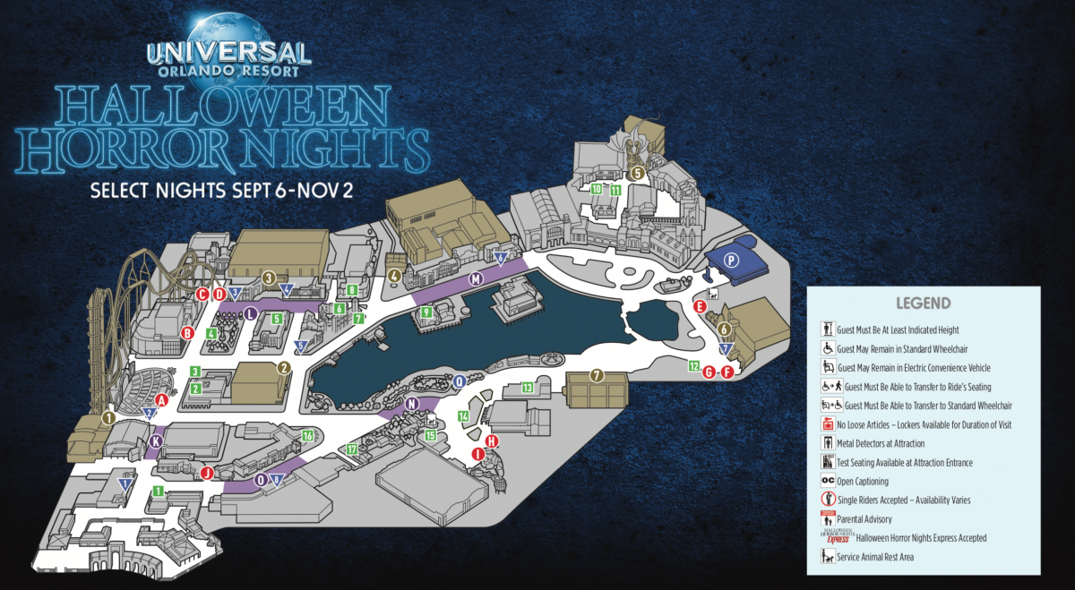 Halloween Horror Nights 29 Event Map