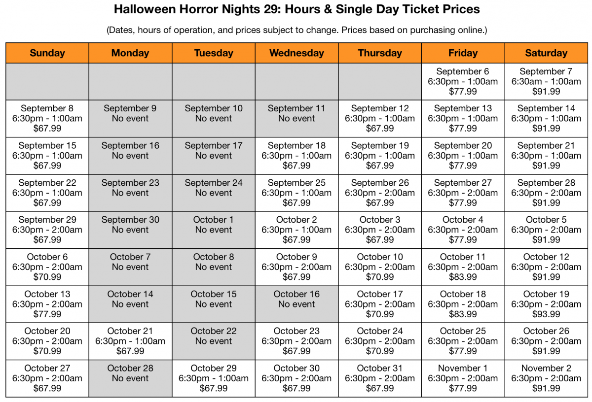 Halloween Horror Nights 2020 Cost Ultimate Halloween Horror Nights 29 Guide, Part 1: Planning