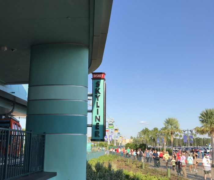 Big blue skies to welcome the Disney Skyliner as fall settles in early at Walt Disney World.