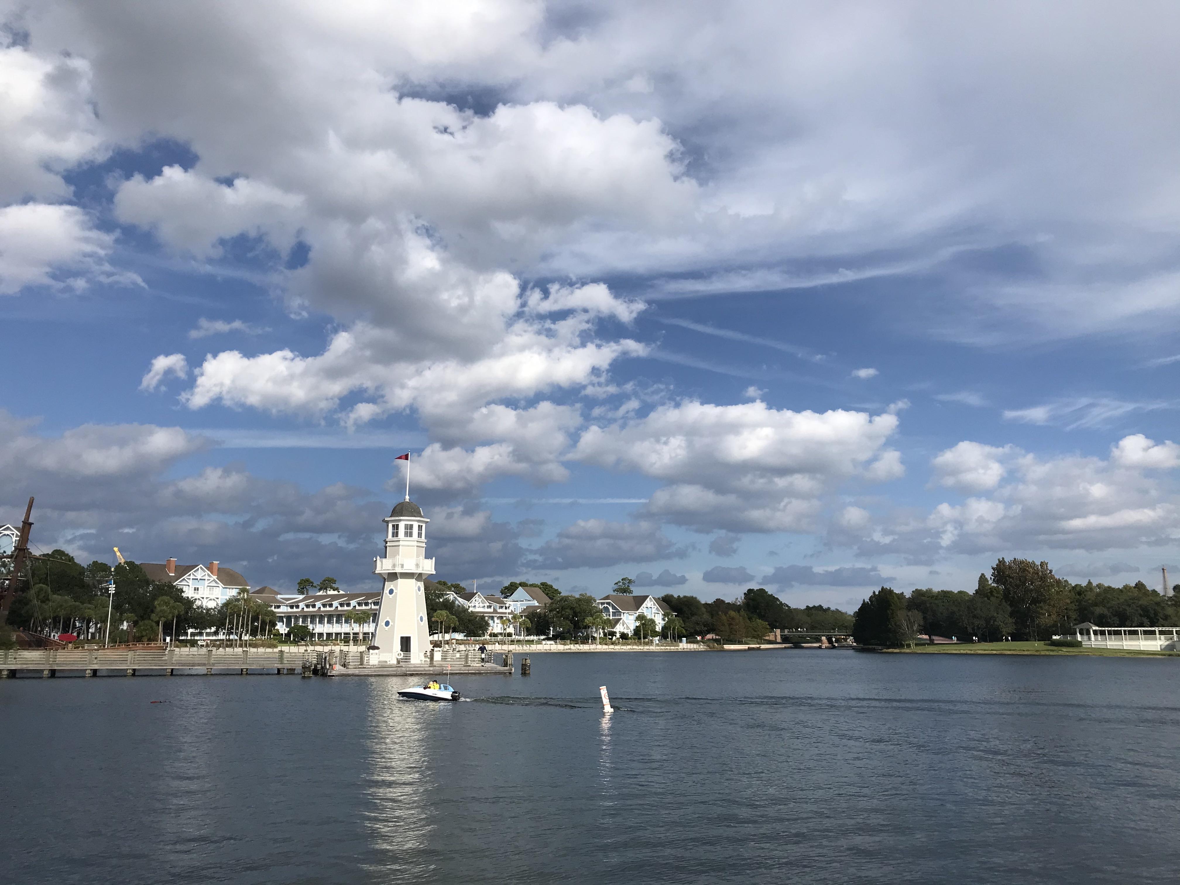 autumn clouds over disney's yacht club resort