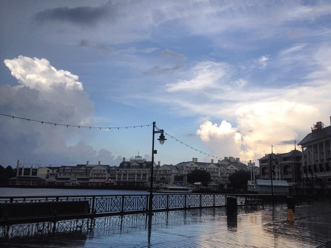 Rainy day at Disney's Boardwalk