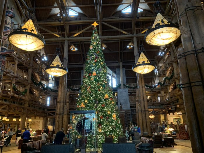 The Wilderness Lodge Christmas Tree is