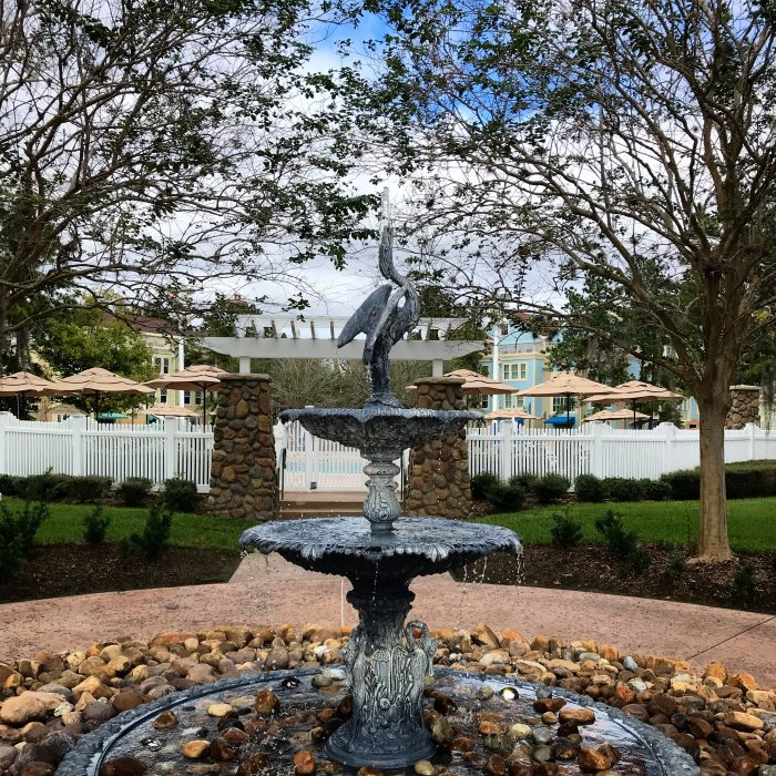 A hint of blue on a cold, cloudy Saturday at Disney's Saratoga Springs Resort & Spa.