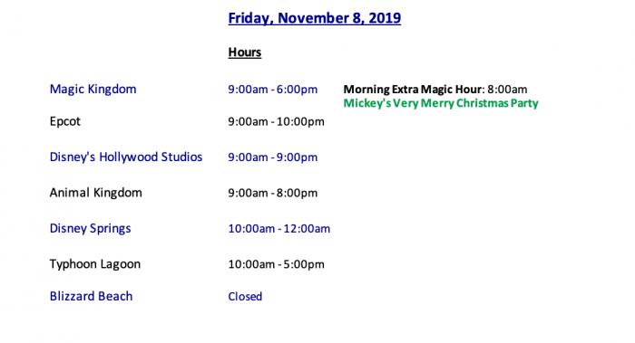 Walt Disney World Crowds Hours And Discounts Week Of