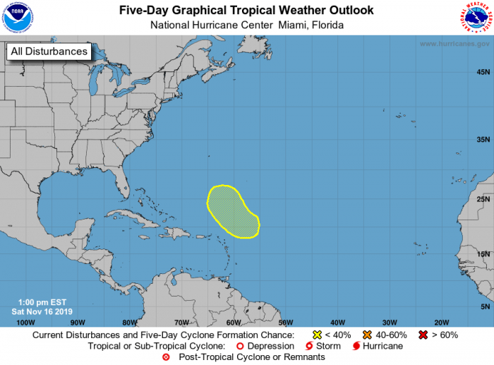 A small potential for tropical development! Courtesy: NOAA