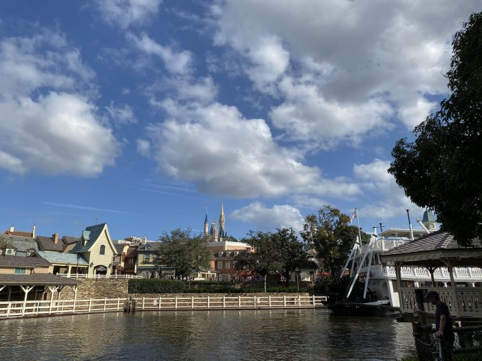 January 2020 sun and blue sky at Magic Kingdom