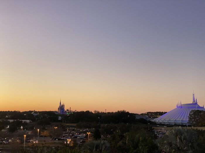 Sunset over Magic Kingdom from Contemporary Resort