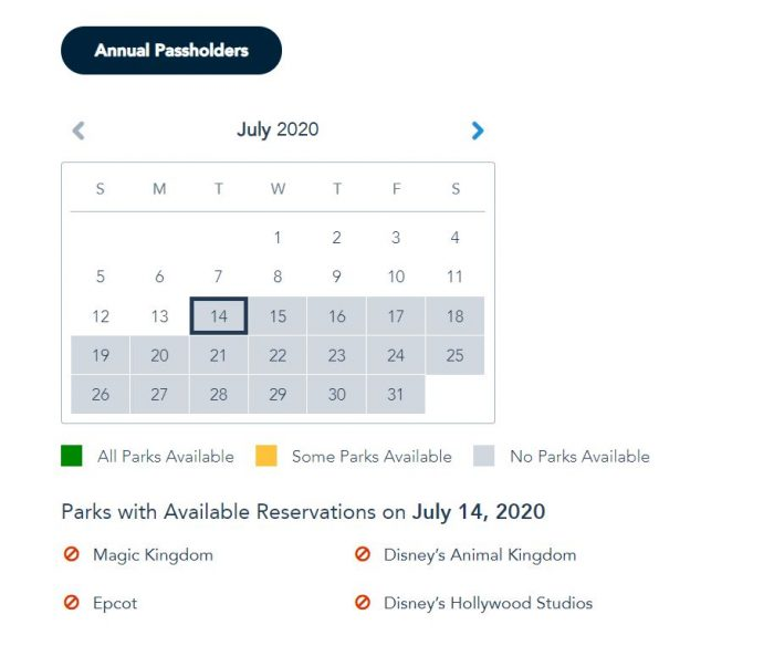 Walt Disney World Annual Passholders Get More Disney Park Pass Reservations Dates and Pass Extension