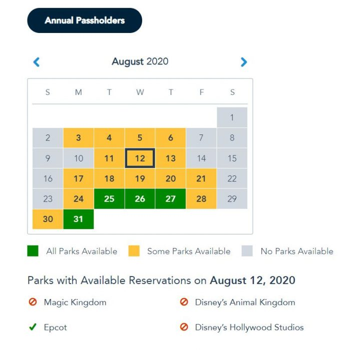 Walt Disney World Annual Passholders Get More Disney Park Pass Reservations Dates and Pass Extension Annual Passholders