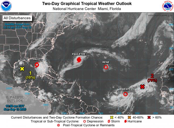 9.13.20 hurricane satellite imagery