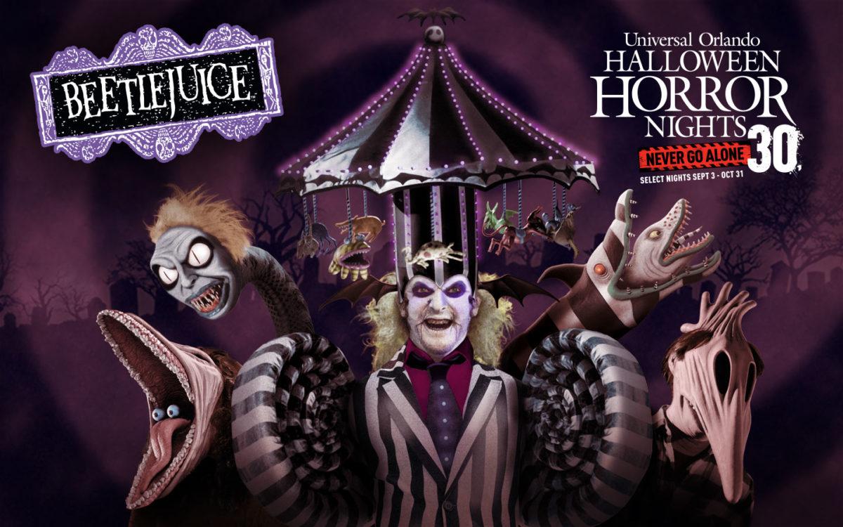 beetlejuice graphic for Halloween Horror Nights 30
