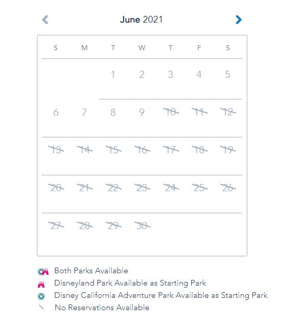 June Disneyland Calendar