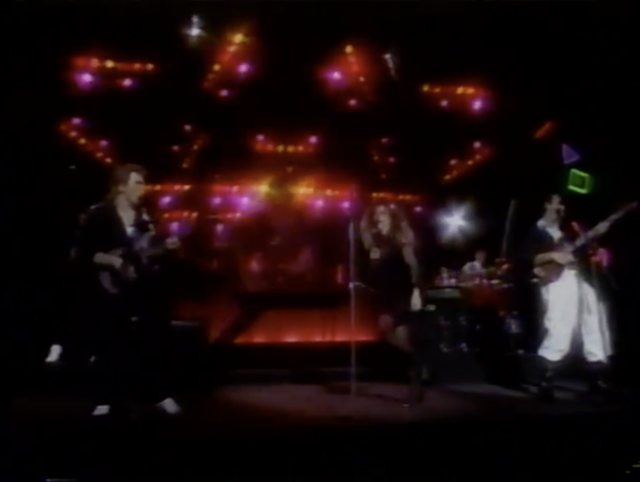 Gloria Estephan and the Miami Sound Machine perform Rhythm is Going To Get You.