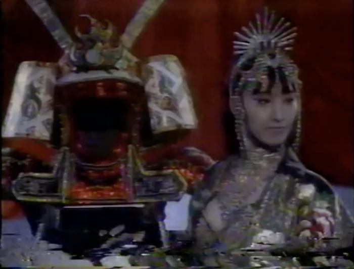 A vaguely Asian act that combines Chinese and Japanese imagery that would totally not fly now.