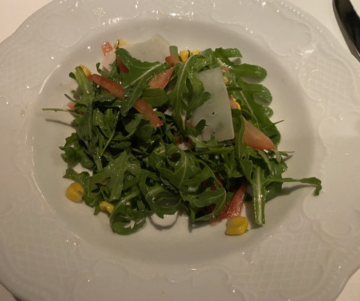 Picture of Arugula, Corn, and Tomato Salad from the Waterside Dining Room on the Crystal Symphony