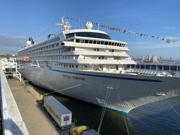 Picture of the Crystal Symphony in port