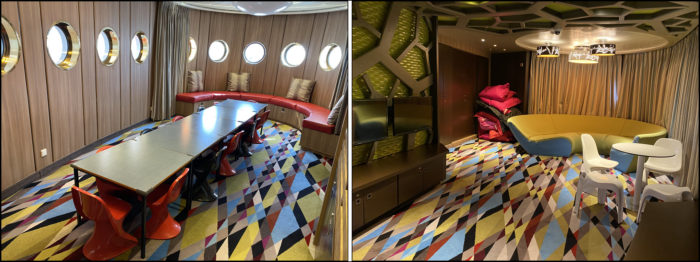 Interior of the kids areas on the Crystal Symphony