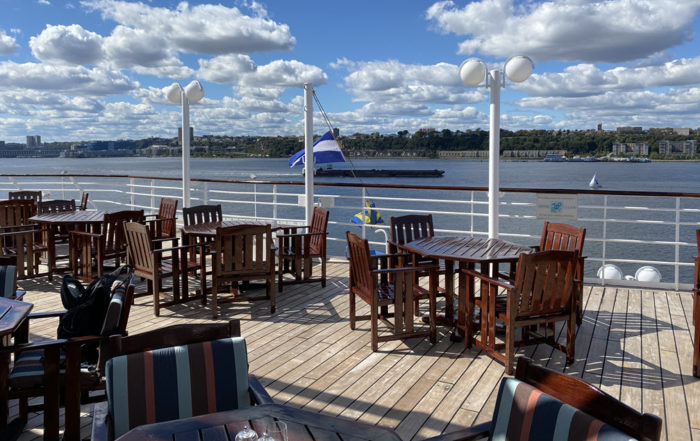 Outside Seating at the Marketplace on Deck 11, Crystal Symphony