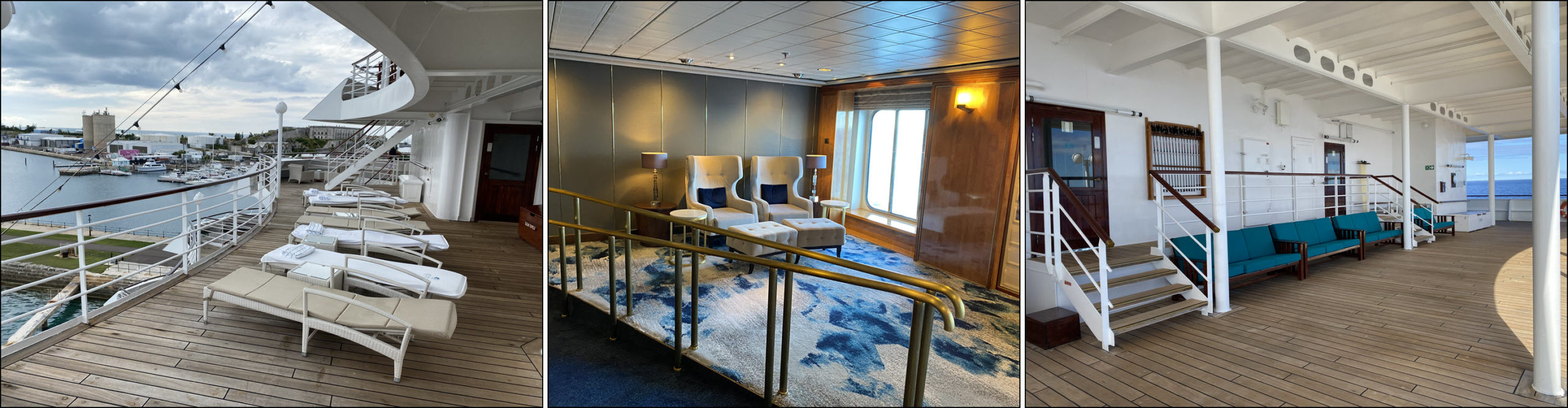 Small lounge areas on the Crystal Symphony