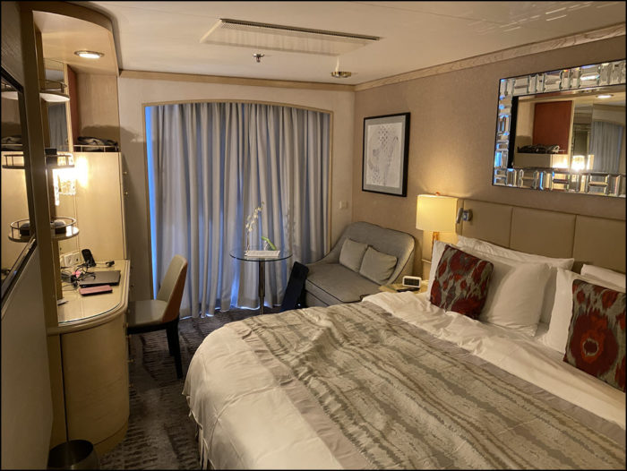 Picture of a Crystal Symphony verandah stateroom from the doorway