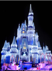 The Christmas decor is beautiful, but the holiday season might not be the best time to go to Disney, depending on your tolerance for large crowds