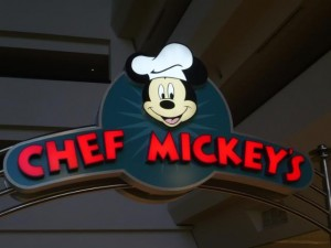 Perhaps a late ADR at Chef Mickey's?