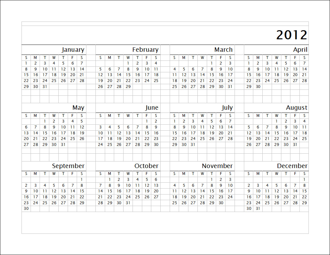 Print 2012 calendar: single page (annual) econsultant's soup.