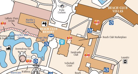 Beach club resort map disney on
