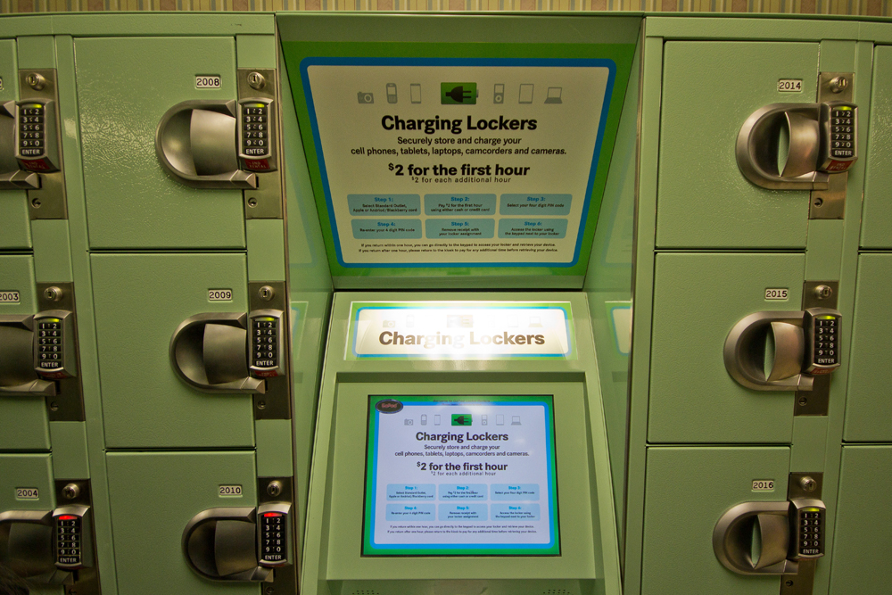 need some electronic juice  new charging lockers at