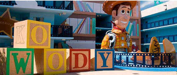 Toy Story Building At Disney S All Star Movies Resort World Hotels