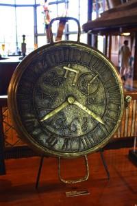 Lost-wax cast bronze clock