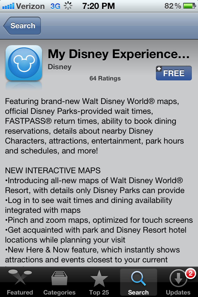 My disney experience a pictorial review touringplans blog please keep in mind the app is still in its beta testing phase disney is still working out some of the kinks gumiabroncs Images
